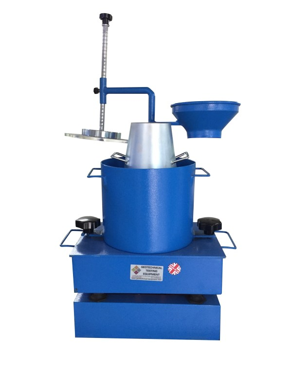 The Vebe Consistometer determine the consistency of fresh concrete by subjecting the concrete specimen to vibration after removal of the slump cone.