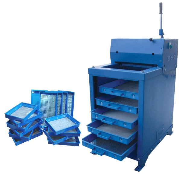 The High Capacity Screen Shaker is ideal for sizing large quantities of crushed stones, sand, gravel, slag, coal, coke, ores, pellets and similar materials.