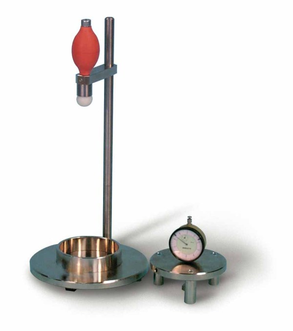 The dropping ball apparatus is used to measure the consistency of cement mortar.