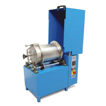 Nordic Abrasion Machine has been developed for testing the resistance of aggregates to wear by abrasion from studded tires.