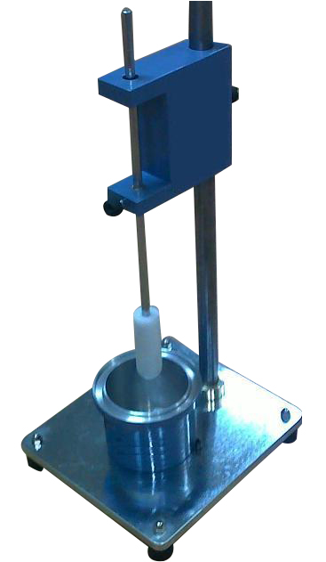 The plunger penetration apparatus is used to determine the consistency of fresh mortar, lime and masonry cement.