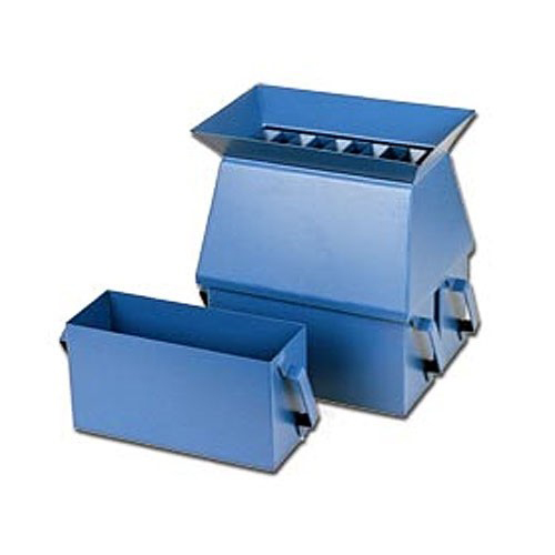 Riffle Boxes are used for dividing soil aggregates into representative sample increment for testing.
