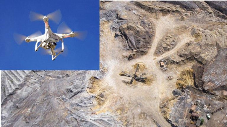 Uso minería dron