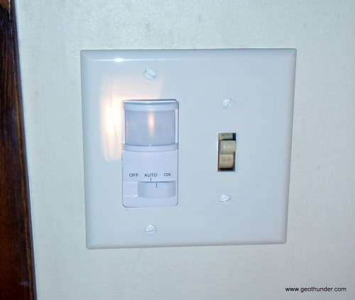 small resolution of new motion sensor switch installed
