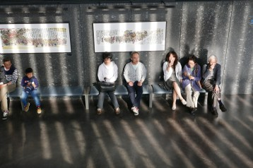 People relaxing at Nebuta museum
