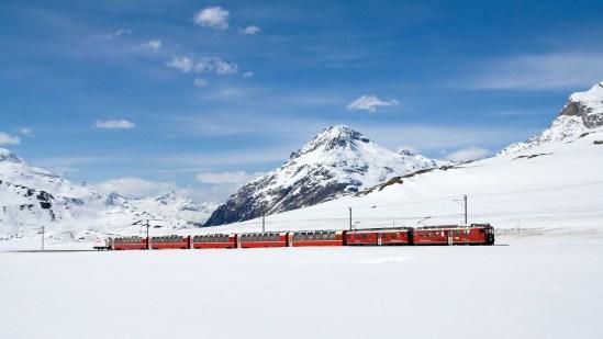 Bernina pixa railway
