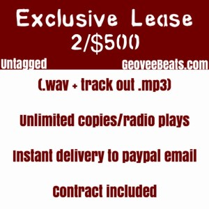 Geovee Beats Premium lease beat sale untagged wav mp3 photo services flyer GeoveeBeats