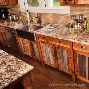 Barnwood Kitchen Cabinet facing