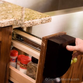 pullout spice rack with newell front