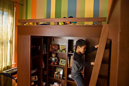 Custom designed loft beds