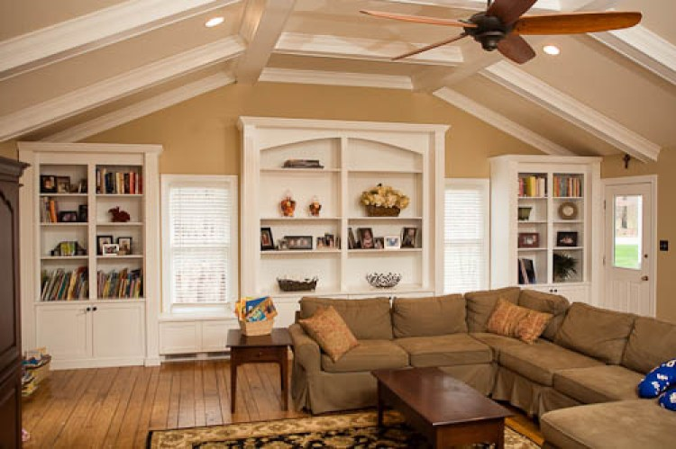 Custom designed Built in Cabinets matching archetechural design