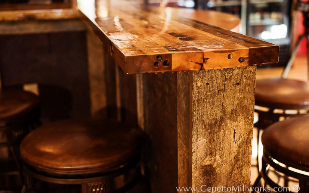 Built to suit in-home bar : custom wood bar order