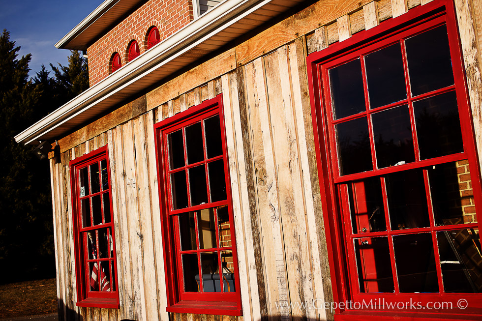 Historic Wooden Windows Barnwood Facing