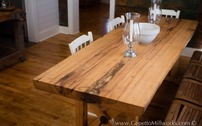 Country Chic style created by reclaimed barn wood