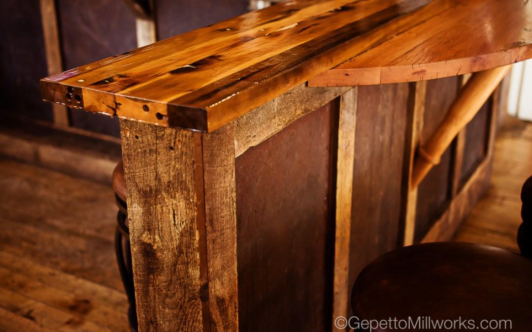 Rustic Restaurant Bar Construction & Fabrication