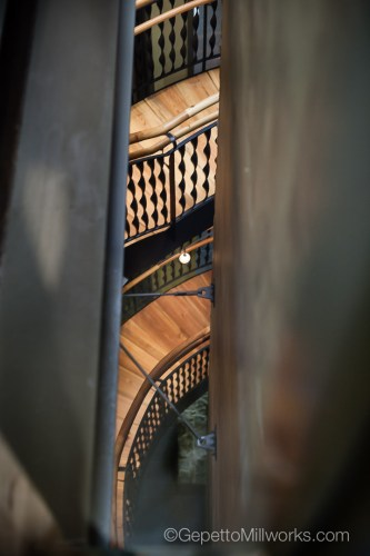 East Coast Warehouse Renovation | Solid Wood Spiral Staircase
