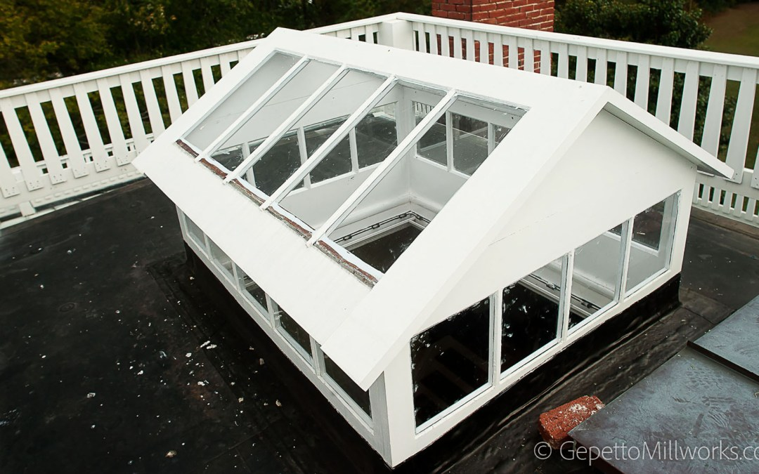 Custom built wood skylights
