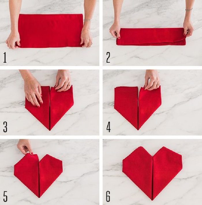 Image result for fold a napkin heart