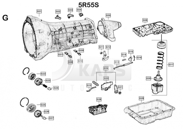 5r55e Transmission Wiring Diagram 5R55E Transmission Parts