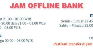 Jadwal offline Bank, Geraibayar
