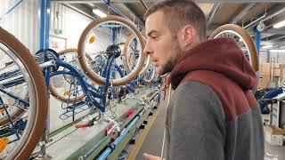 Visite exclusive des ateliers de productions et de stockage des vélos ARCADE.