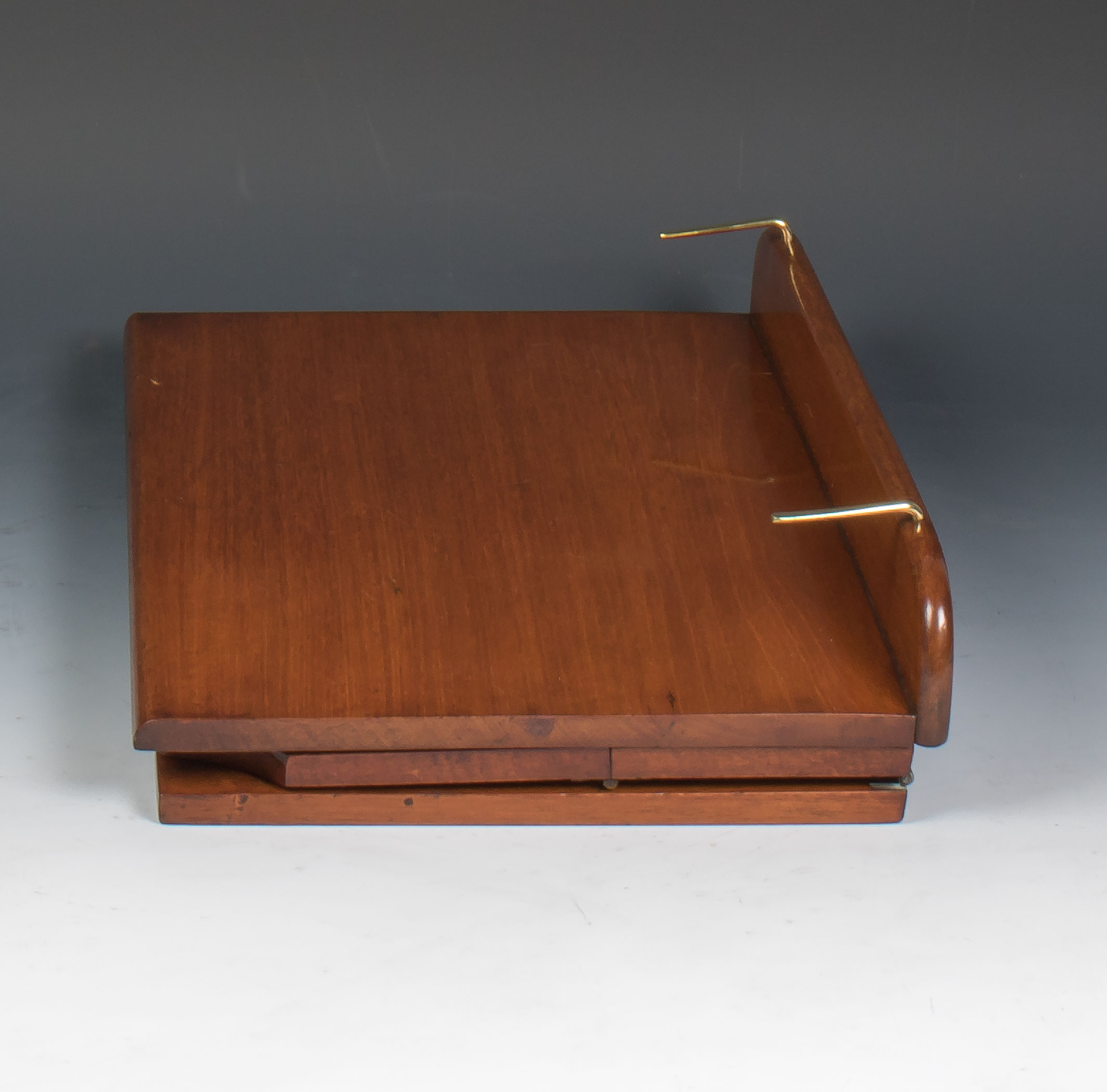 1920s Alfred Carter Solid Mahogany Book Rest  Reading