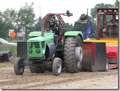 Pulling tractor