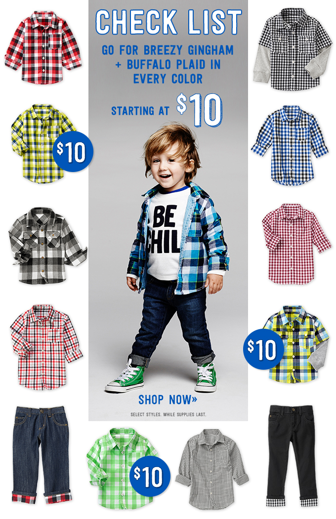 Crazy 8 Toddler Boy Plaid