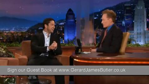 gerard butler s interview with conan o brien on the tonight show