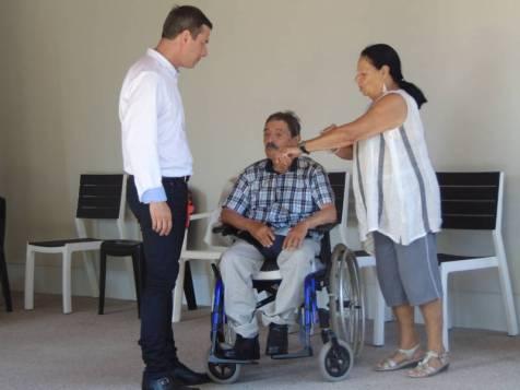 Jean grossier était également venu encourager son fils Bruno qui animait la deuxième partie de la cérémonie