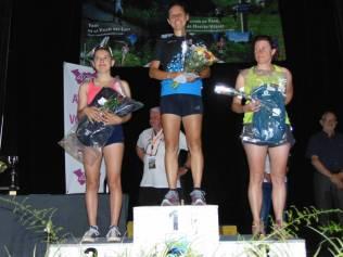 Le podium scratch de la Natur'elle de Marie Avec Alice Ribau, Marilou Pierrat et sur la plus haute marche Caroline Finance.