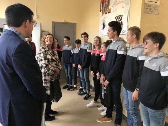 Rencontre avec les élèves de la section ski