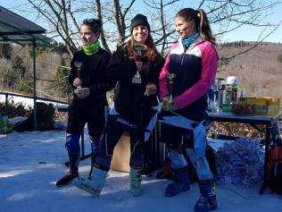 Podium U21 filles CD2