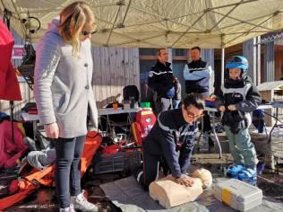 Le SDIS des Vosges est représenté par des pompiers secouristes en montagne qui assurent eux aussi des démonstrations.