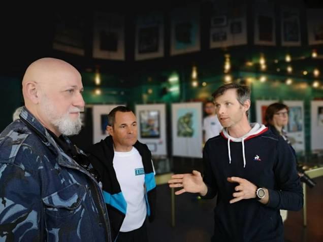Petit tour de l'exposition terres de tennis à l'Espace LAC en comagnie de Thierry germain et Yves Grossier
