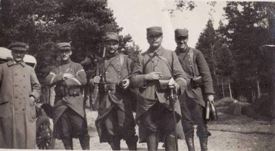 Les frères Boucher en 1914, 3ème et 4ème en partant de la gauche