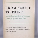 From Script to Print: an Introduction to Medieval Vernacular Literature