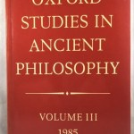 Oxford Studies in Ancient Philosophy: Volume III: 1985