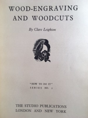 """Wood-Engraving and Woodcuts How To Do It Series"""" No. 2"""