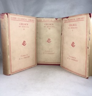 De Medicina. Volume I, Books 1-4; . Volume II, Books 5 and 6 [and] On Medicine. Volume III, Books 7-8. [complete]