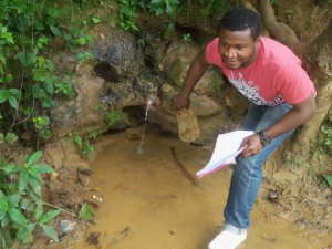 hygiene and sanitation campaign at natural water springs
