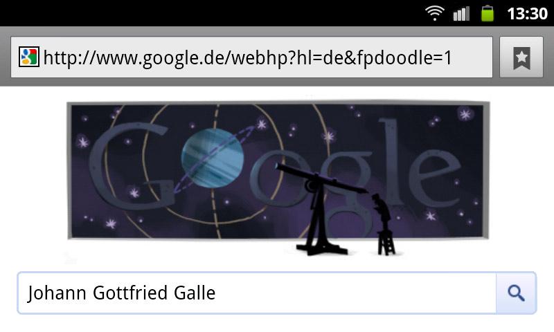 Johann Gottfried Galle Google Doodle