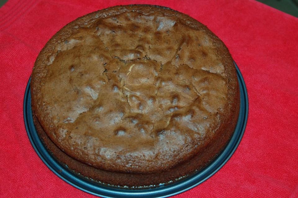 chocolade-wijn taart