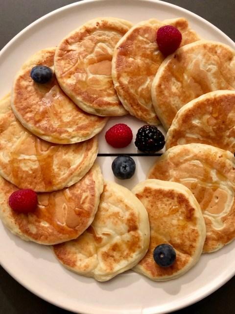 Amerikaanse ricotta-citroen pannenkoeken