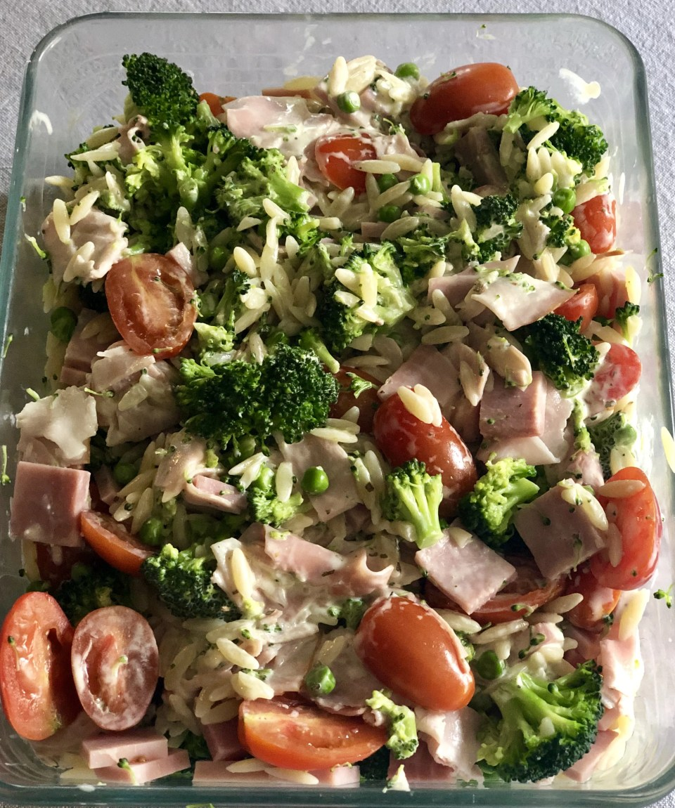 gezonde Griekse pasta salade