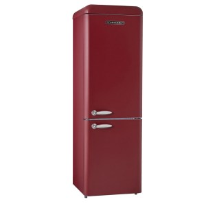 Retro Koelkast SL300 Mat Wine Red