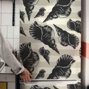 Koelkast stickers Hand tekenen zeeschelp vintage koelkast
