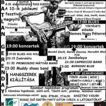 X. Blues, Rock Fesztivál plakát