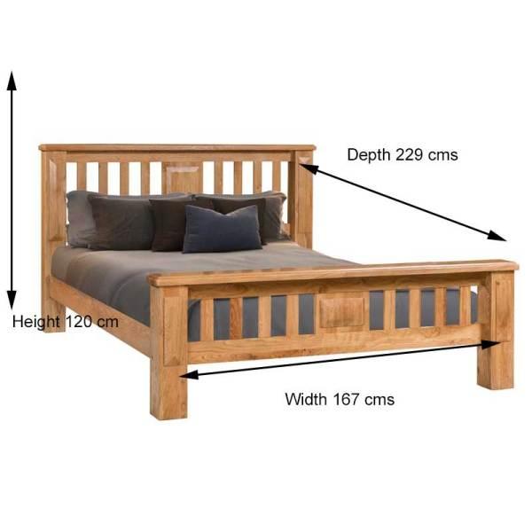 Perth 5 ft King Bed Frame