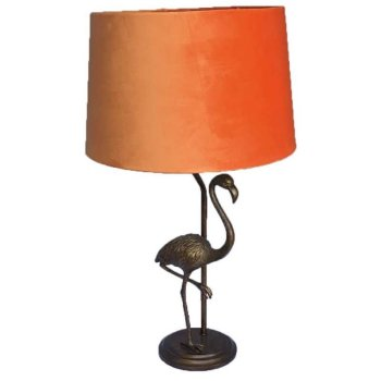 GOLD FLAMINGO LAMP